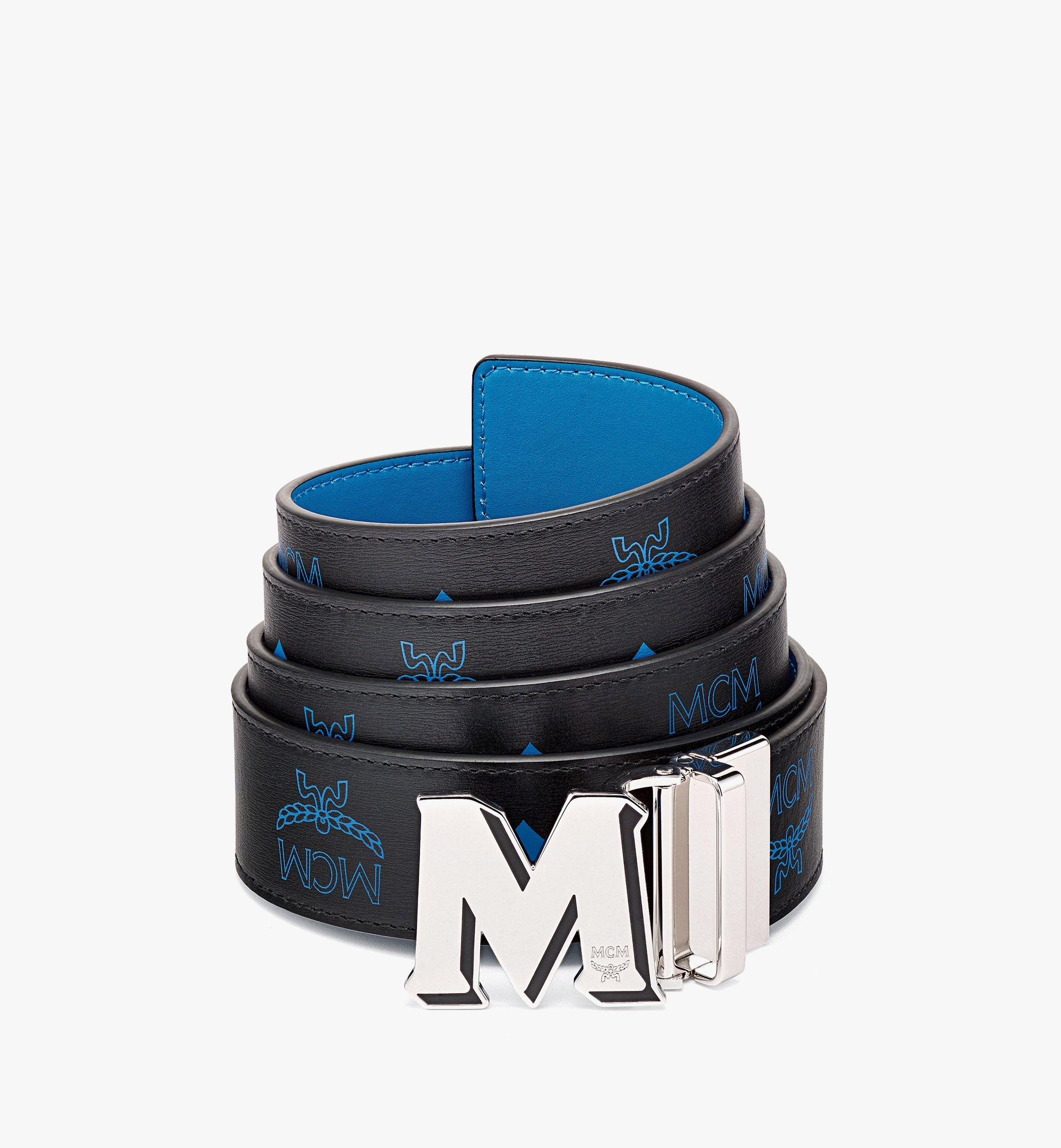 MCM Claus M字压花皮革双面腰带 Blue MXBBAVI09H9001 更多视角 1