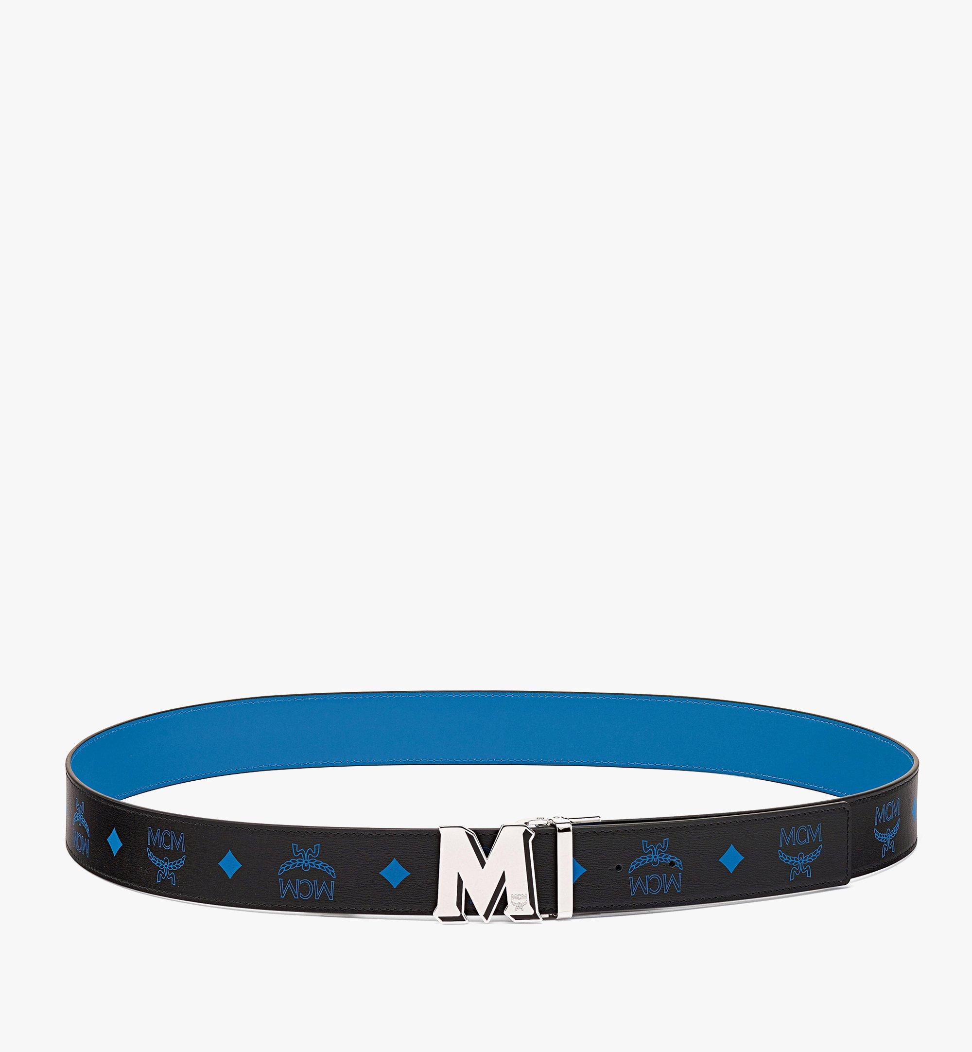 MCM Claus M字压花皮革双面腰带 Blue MXBBAVI09H9001 更多视角 2