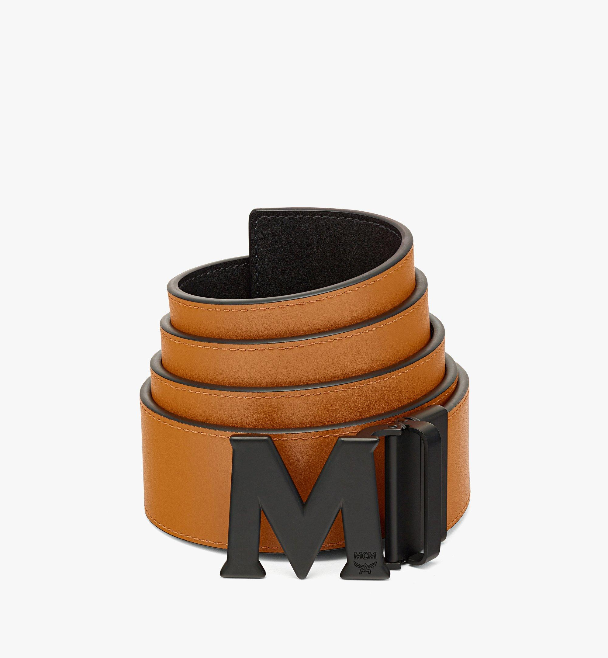"MCM Claus Matte M Reversible Belt 1"" in Nappa Leather Cognac MXBBAVI15CO001 Alternate View 1"