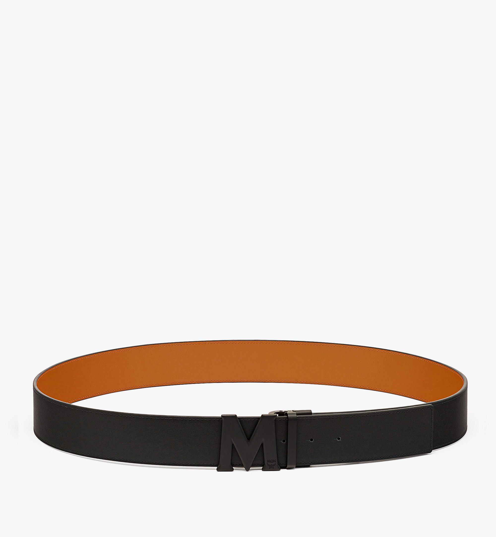 "MCM Claus Matte M Reversible Belt 1"" in Nappa Leather Cognac MXBBAVI15CO001 Alternate View 2"