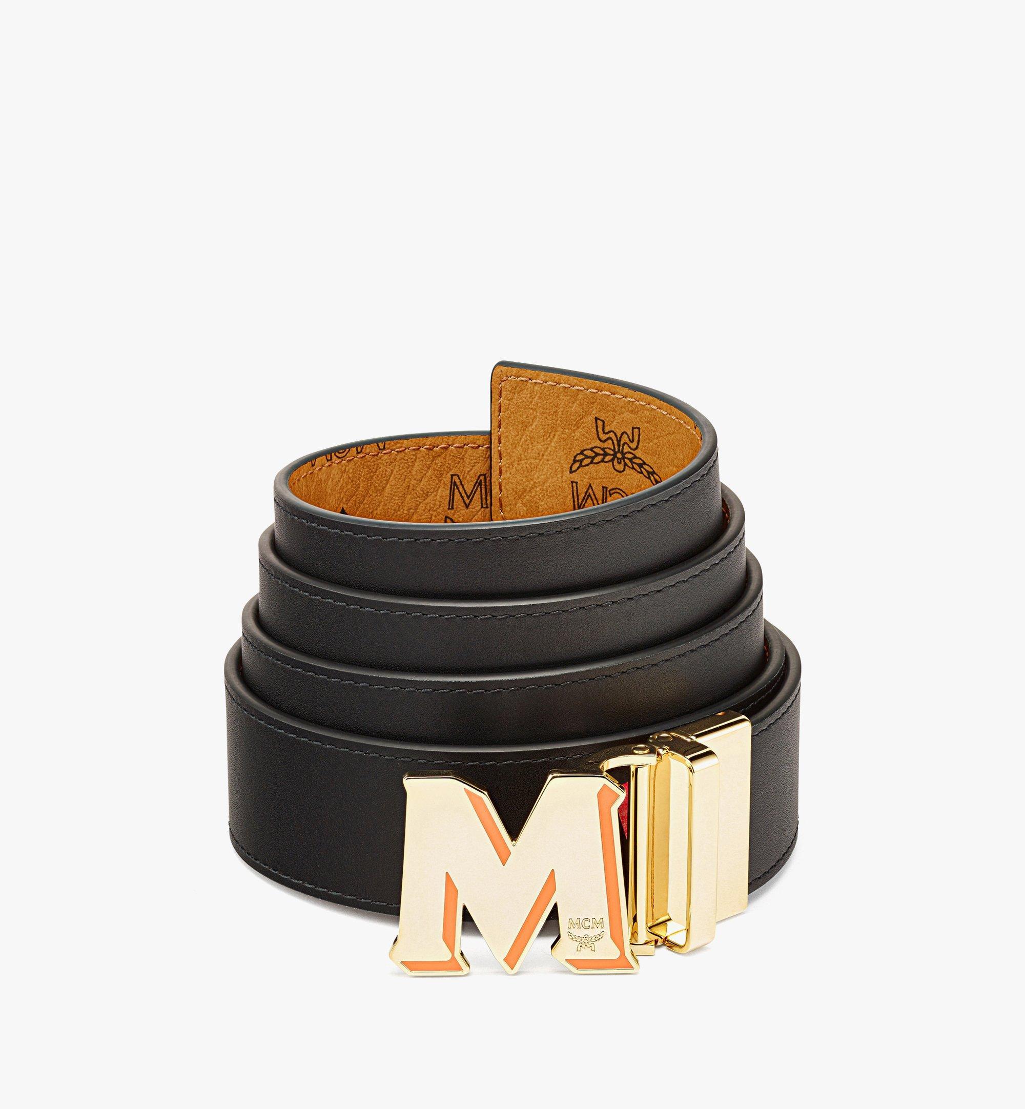 "MCM Claus Epoxy M Reversible Belt 1.5"" in Visetos Cognac MXBBAVI22CO001 Alternate View 1"