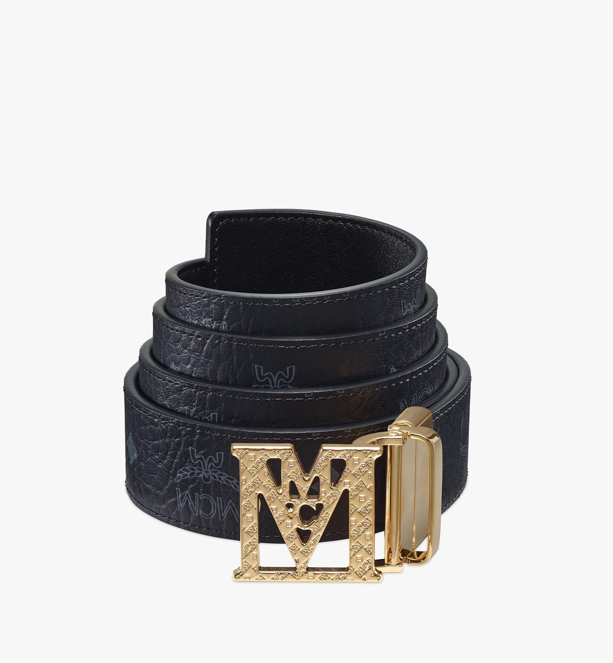 MCM Mena Textured M Wendegürtel in Visetos, 3,8cm Black MXBBSLM01BK001 Noch mehr sehen 1