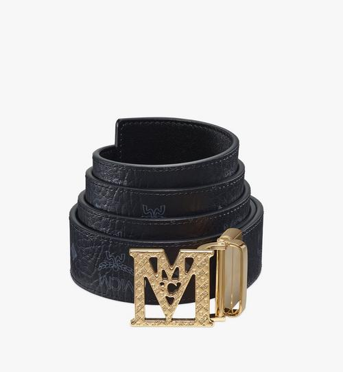 Mena Textured M Reversible Belt 3.8 cm in Visetos