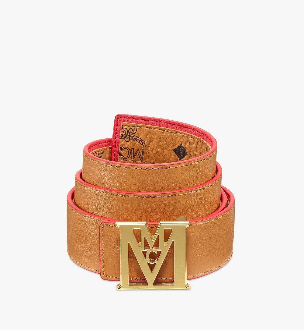 MCM Ceinture réversible Mena M 3,8cm en Visetos Red MXBBSLM03R4110 Plus de photos 1