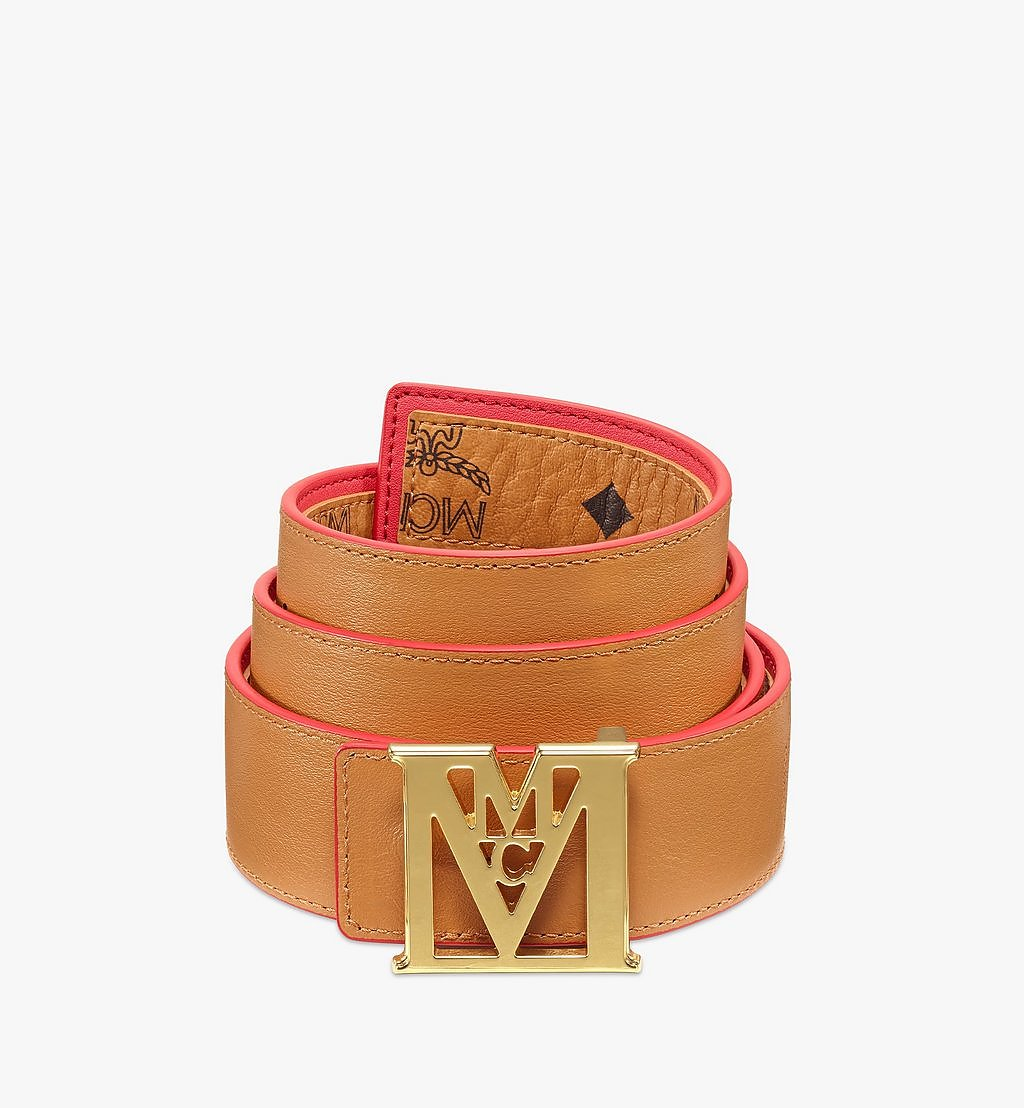 MCM Mena M Reversible Belt 3.8 cm in Visetos Red MXBBSLM03R4110 Alternate View 1