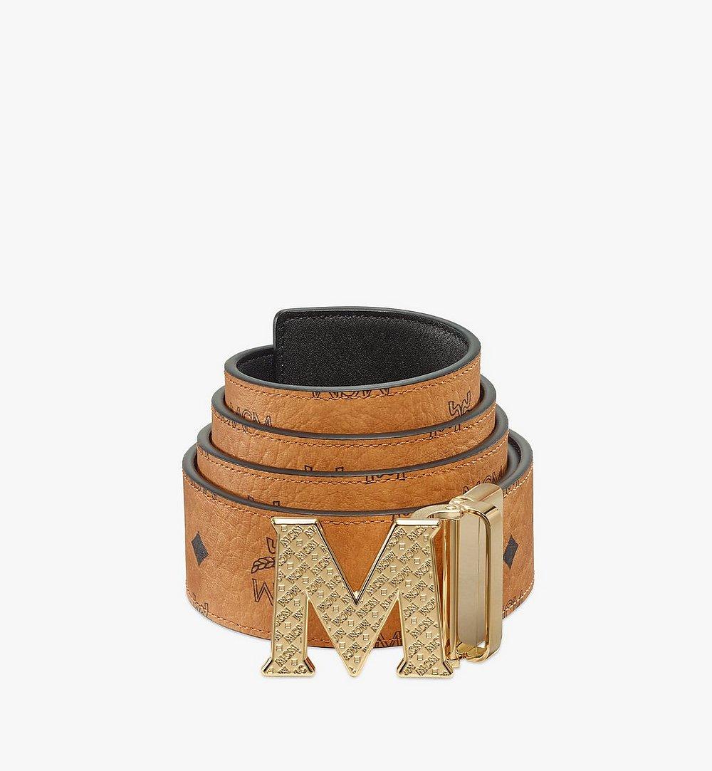 MCM Claus Textured M Wendegürtel in Visetos, 4,5cm Cognac MXBBSVI01CO001 Noch mehr sehen 1