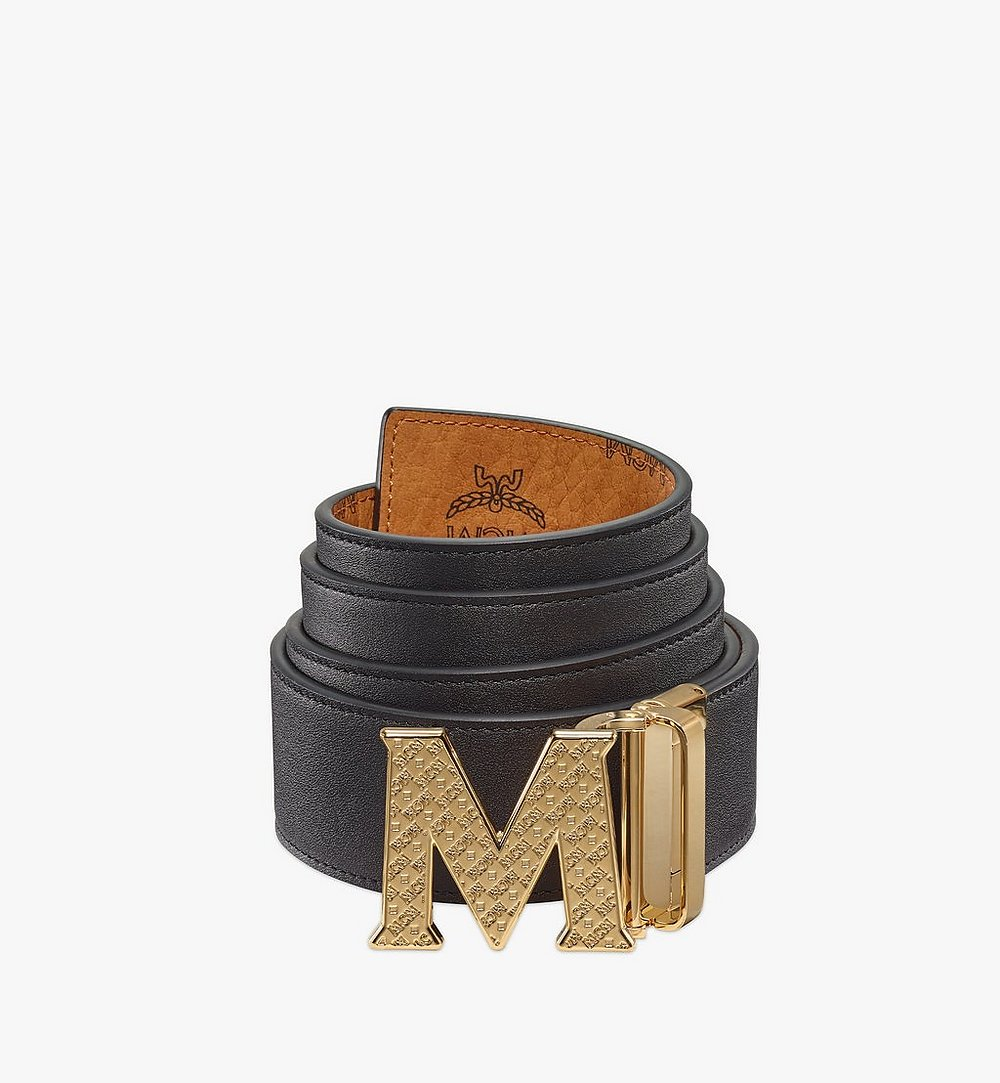 "MCM Claus Textured M Reversible Belt 1.75"" in Visetos Cognac MXBBSVI01CO001 Alternate View 1"