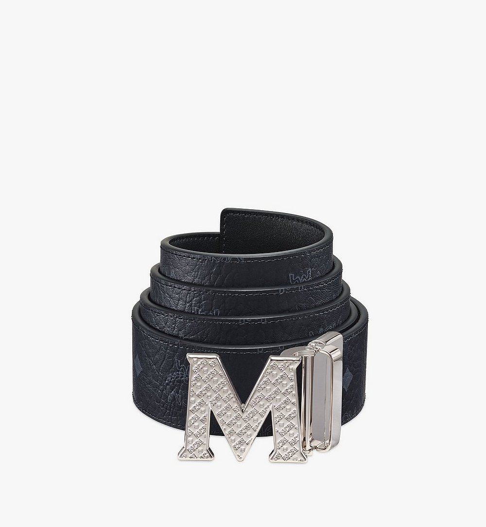"MCM Claus Textured M Reversible Belt 1.75"" in Visetos Black MXBBSVI02BK001 Alternate View 1"