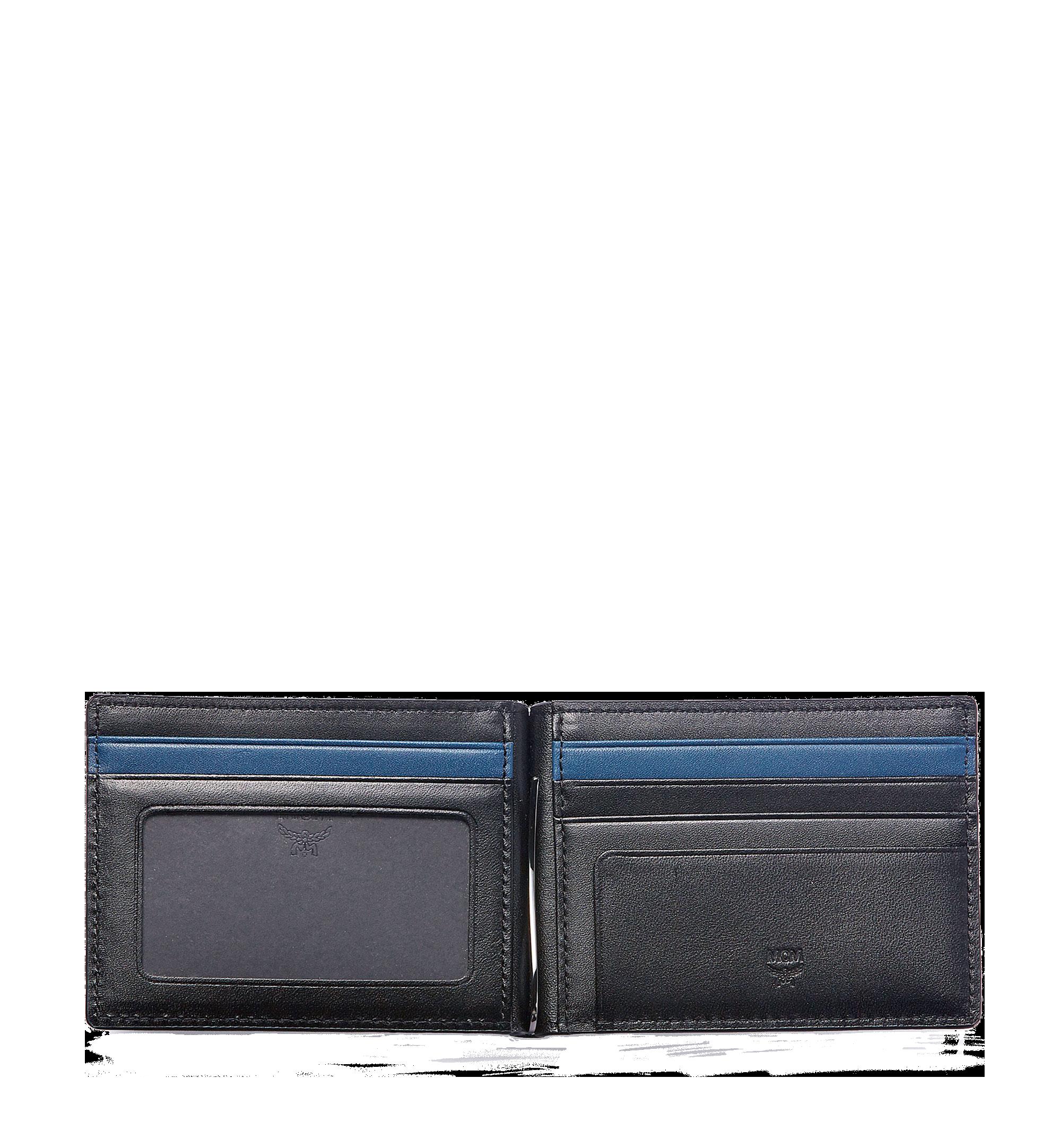 MCM 組合圖案皮革的 Sigmund 鈔票夾 Black MXC6SIE17BK001 更多視圖 3