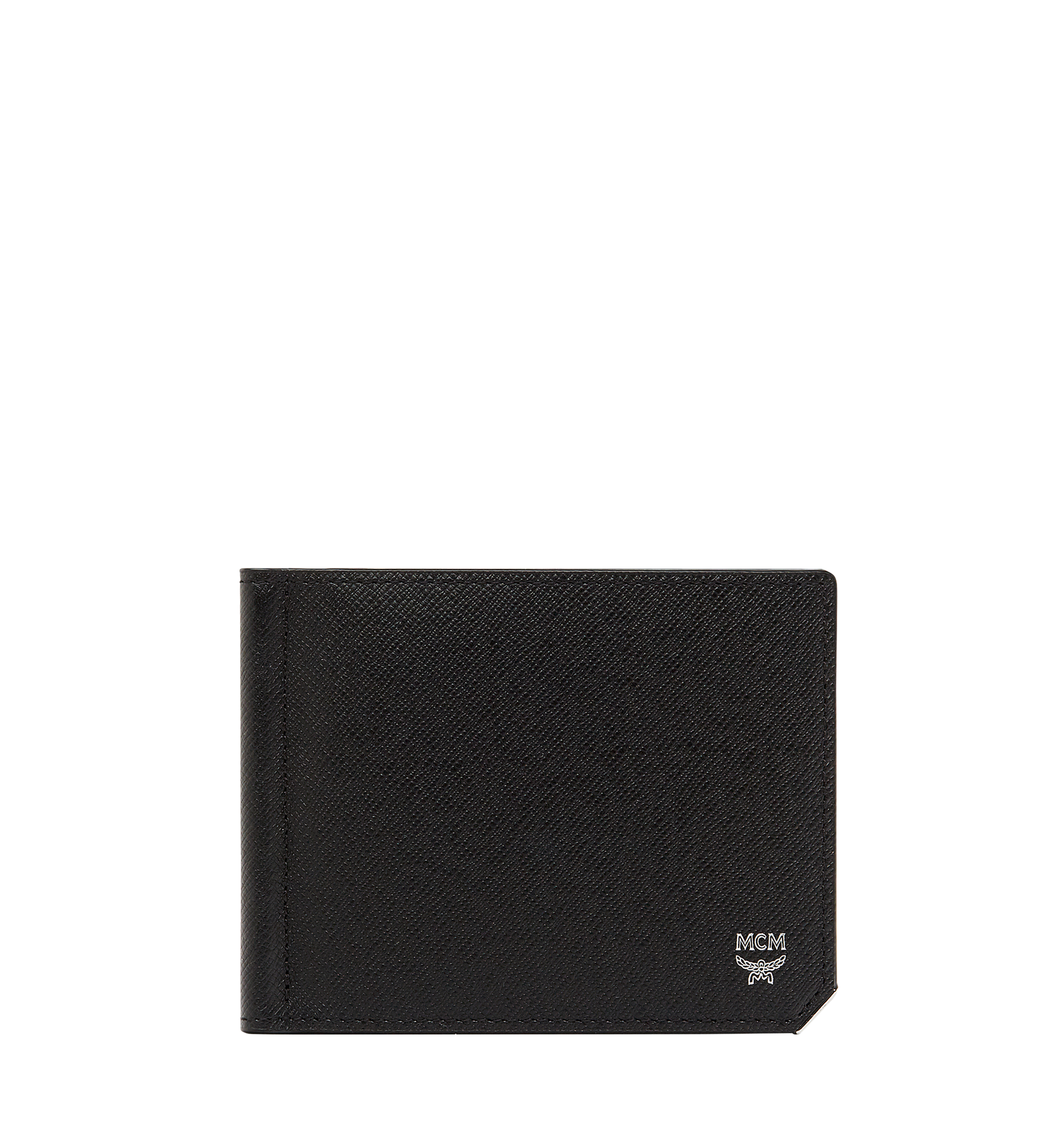 MCM New Bric Money Clip Wallet in Embossed Leather Black MXC8ALL45BK001 Alternate View 1