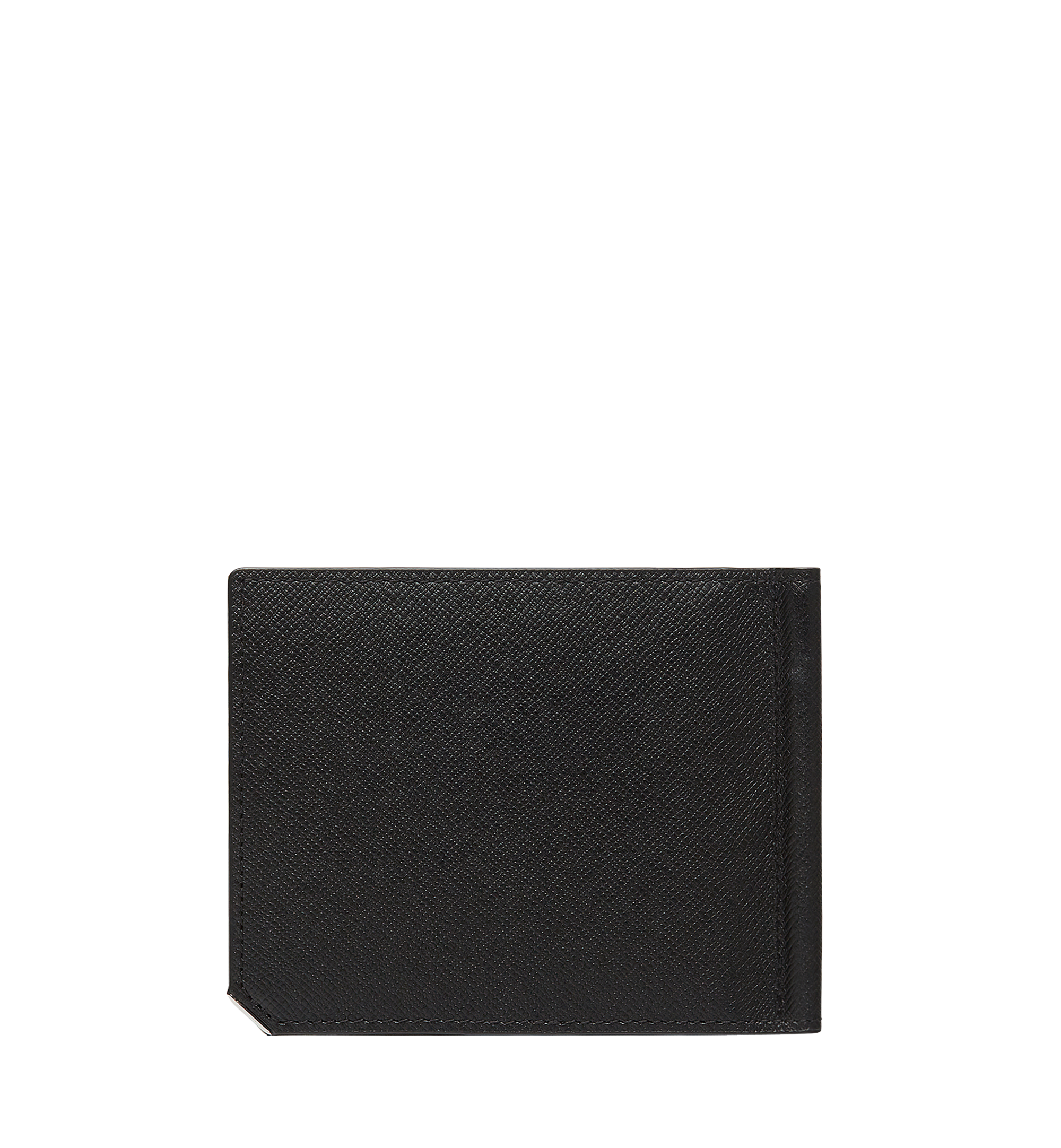 MCM New Bric Money Clip Wallet in Embossed Leather Black MXC8ALL45BK001 Alternate View 2