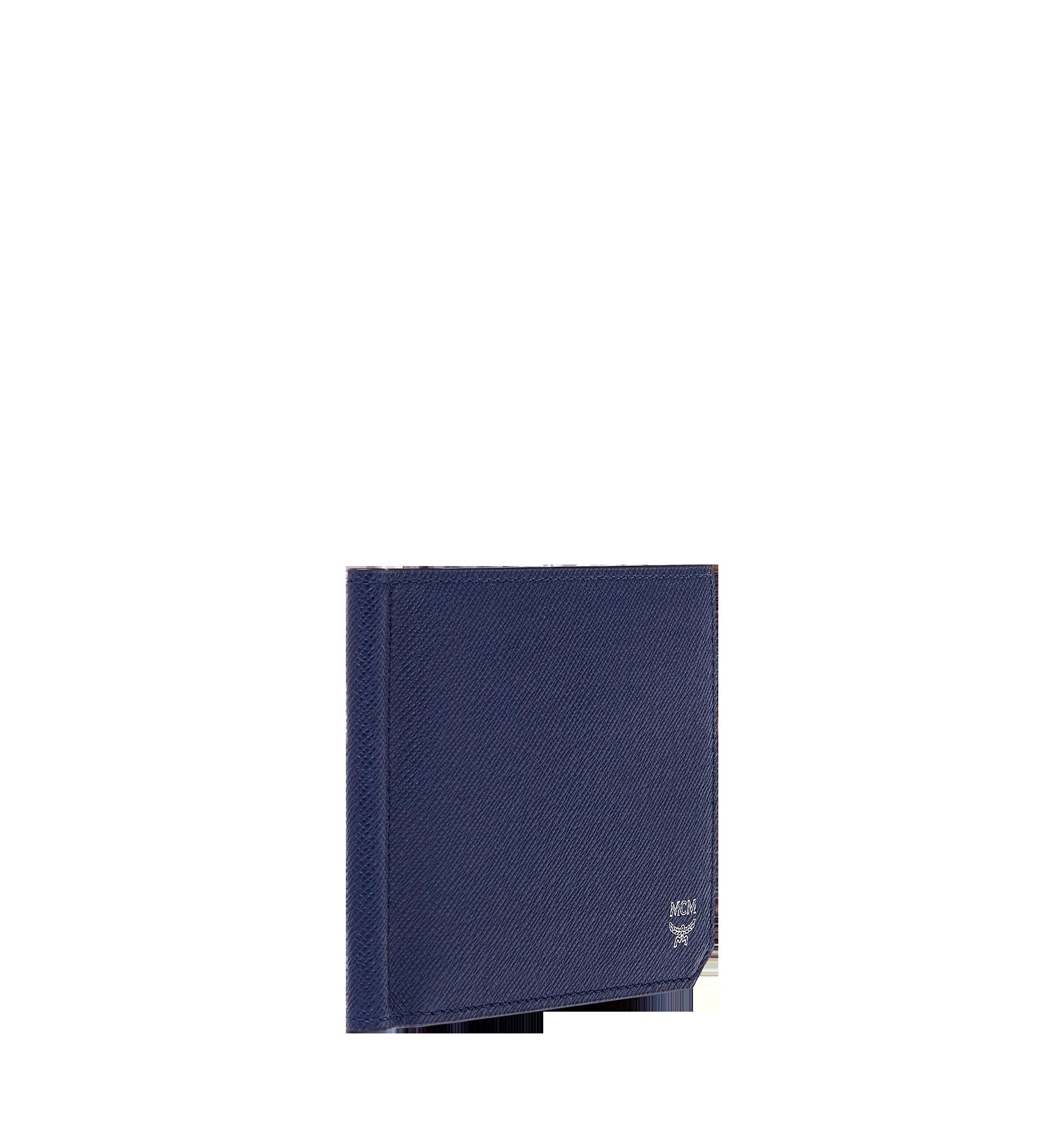 MCM New Bric 經典壓花皮革鈔票夾皮夾 Navy MXC8ALL45VY001 更多視圖 1