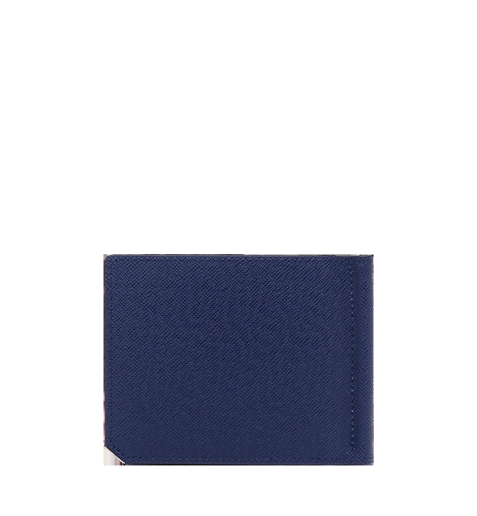 MCM New Bric 經典壓花皮革鈔票夾皮夾 Navy MXC8ALL45VY001 更多視圖 2