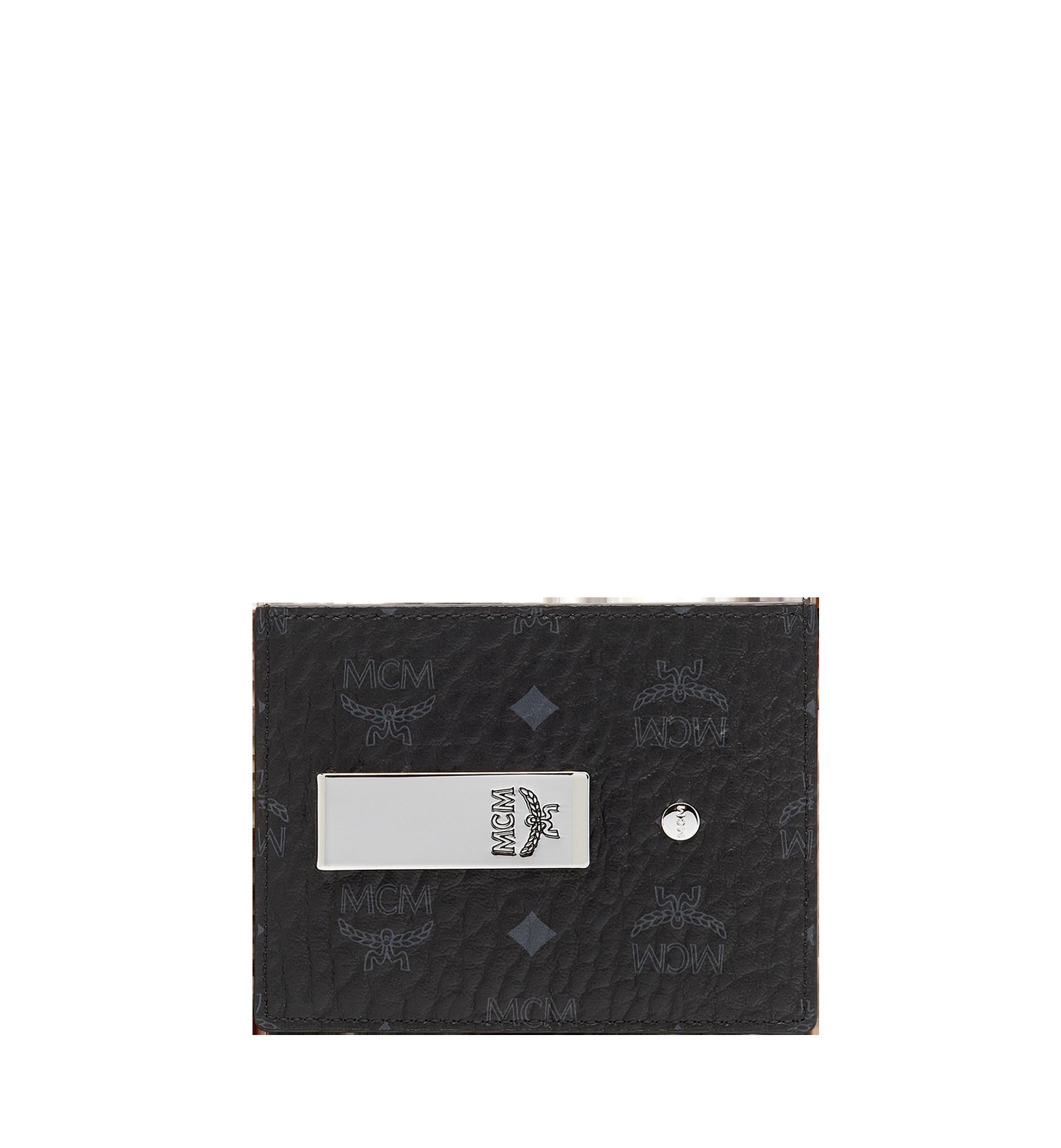 MCM Money Clip Card Case in Visetos Original  MXC8AVI65BK001 Alternate View 1