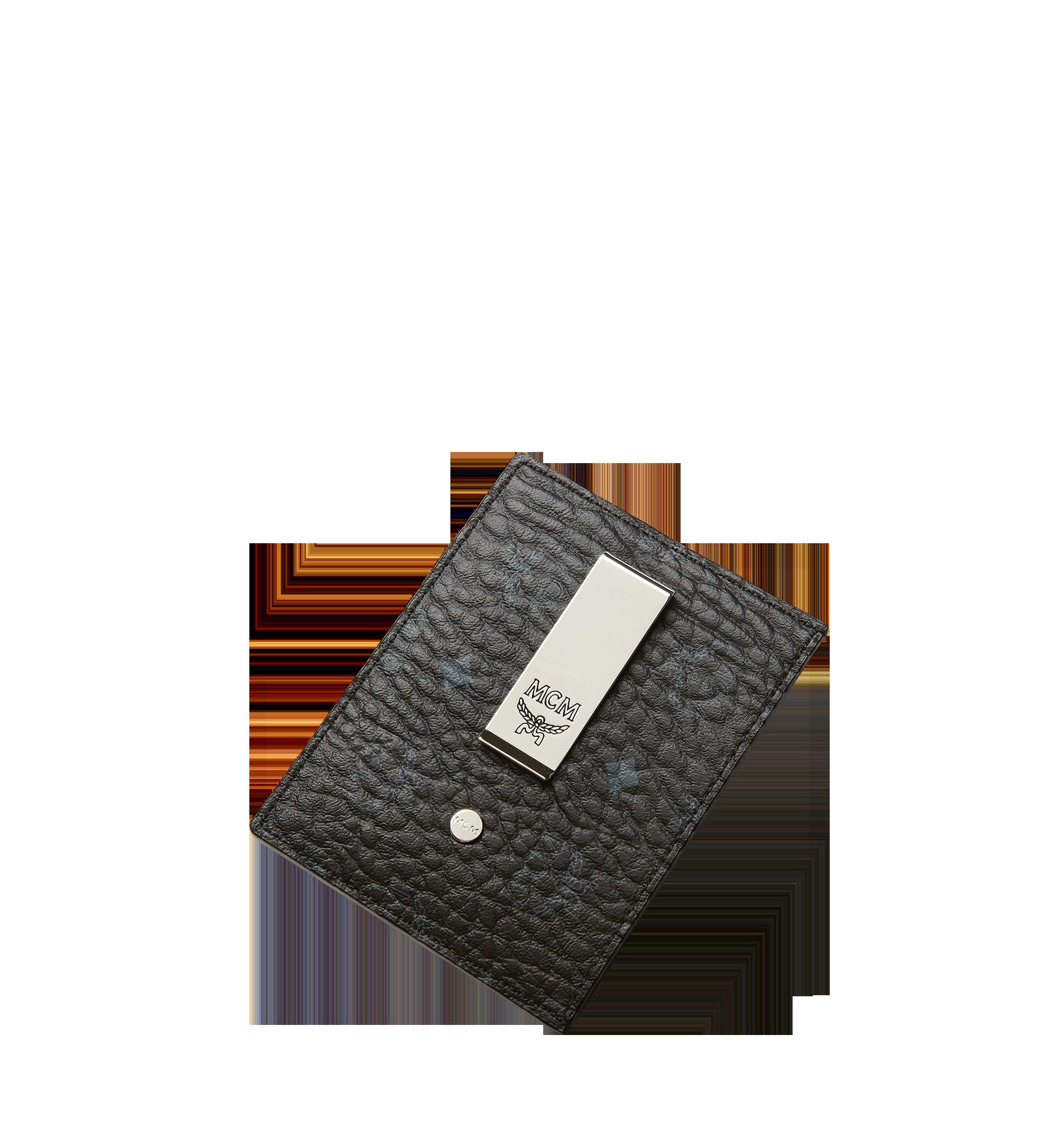 MCM Money Clip Card Case in Visetos Original  MXC8AVI65BK001 Alternate View 4
