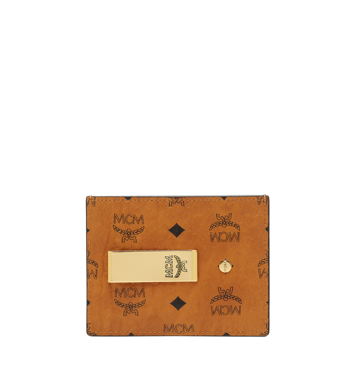 MCM Money Clip Card Case in Visetos Original Alternate View