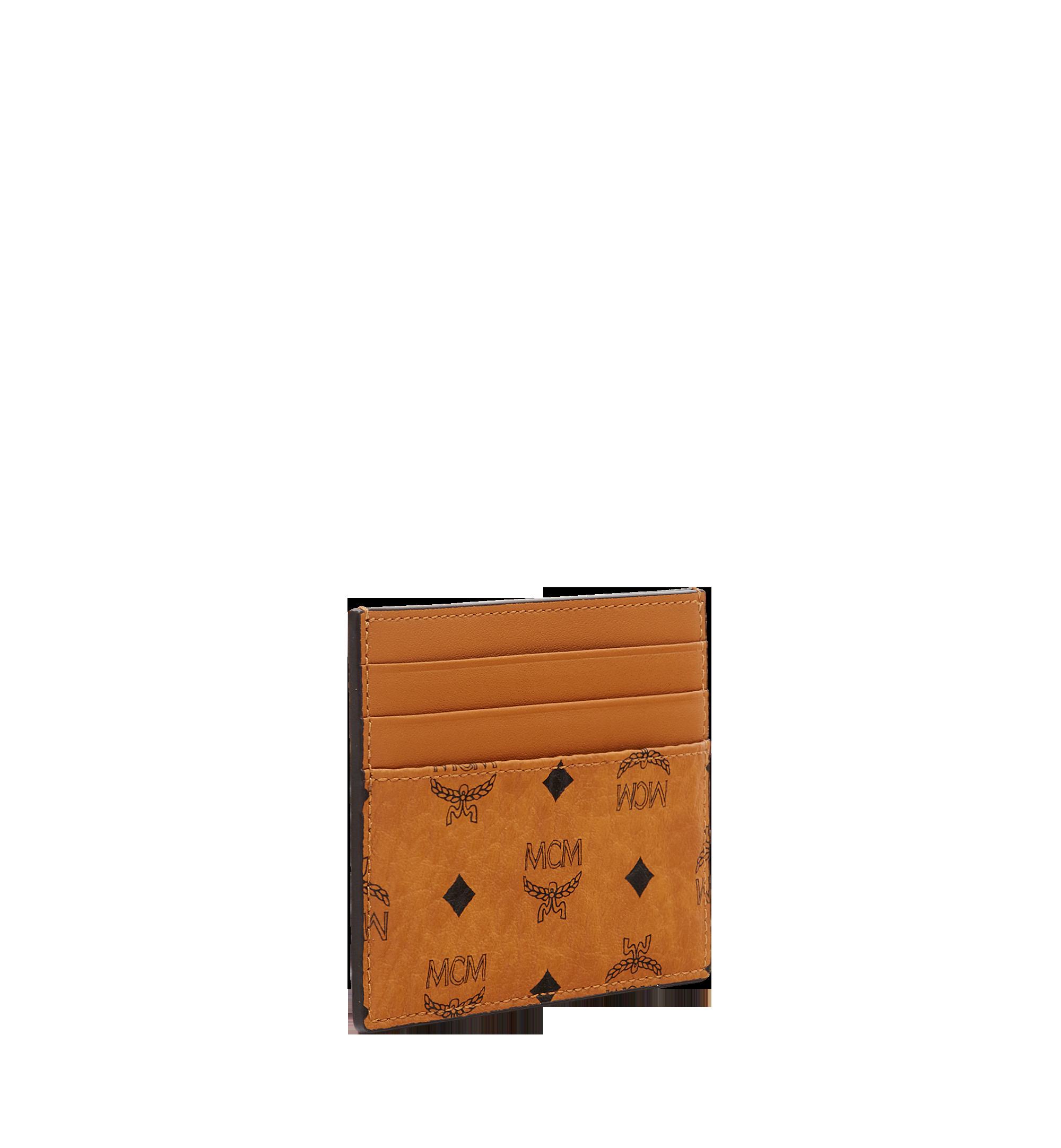 MCM Money Clip Card Case in Visetos Original Cognac MXC8AVI65CO001 Alternate View 2