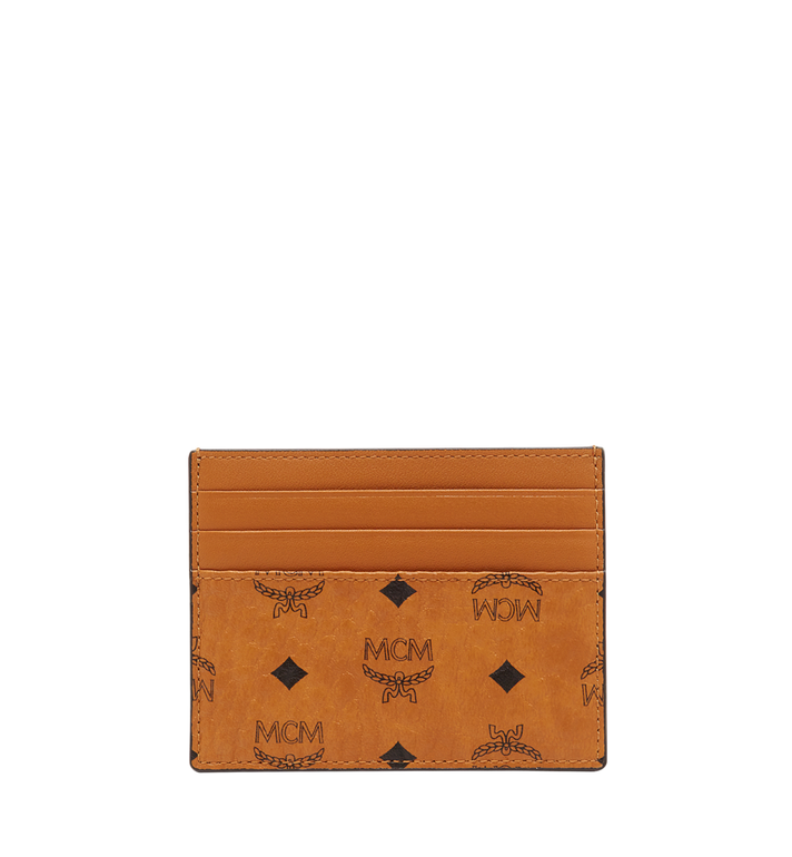 MCM Money Clip Card Case in Visetos Original Cognac MXC8AVI65CO001 Alternate View 3