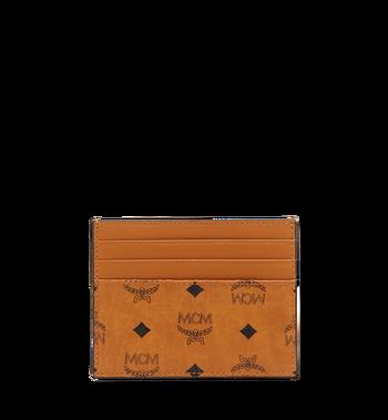 MCM Money Clip Card Case in Visetos Original Alternate View 3
