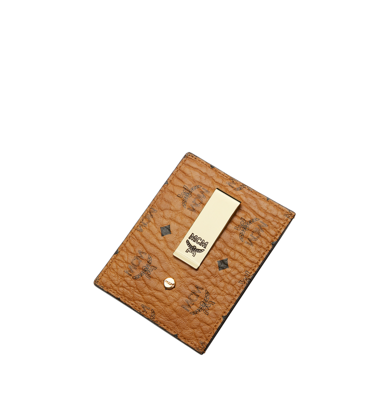 MCM Money Clip Card Case in Visetos Original Cognac MXC8AVI65CO001 Alternate View 4