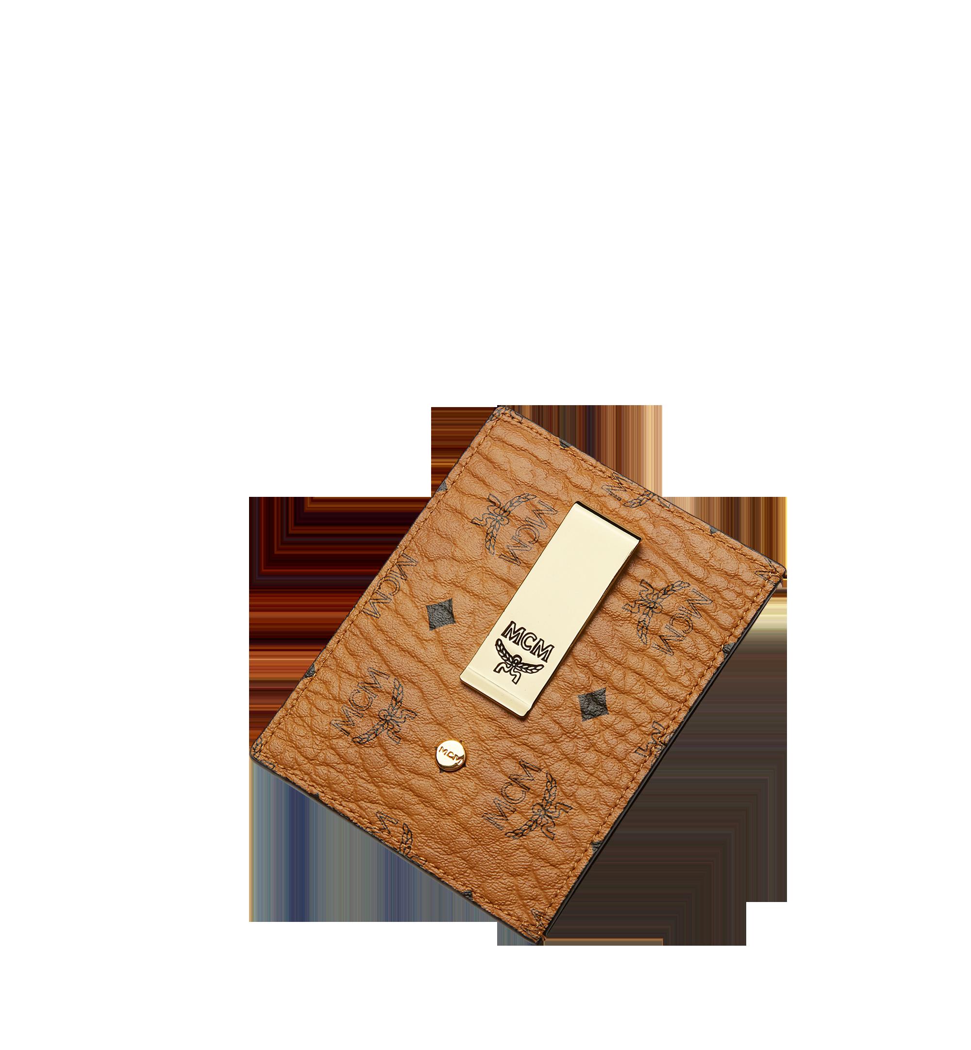 MCM Money Clip Card Case in Visetos Original Cognac MXC8AVI65CO001 Alternate View 4