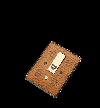 MCM Money Clip Card Case in Visetos Original Alternate View 4