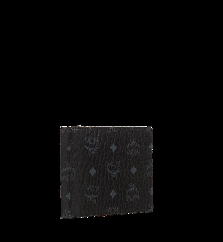 MCM Claus Bifold Money Clip Wallet in Visetos Black MXC8SVI67BK001 Alternate View 2