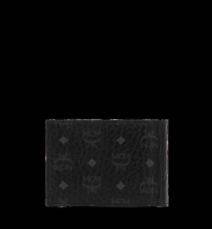 MCM Claus Bifold Money Clip Wallet in Visetos Black MXC8SVI67BK001 Alternate View 3