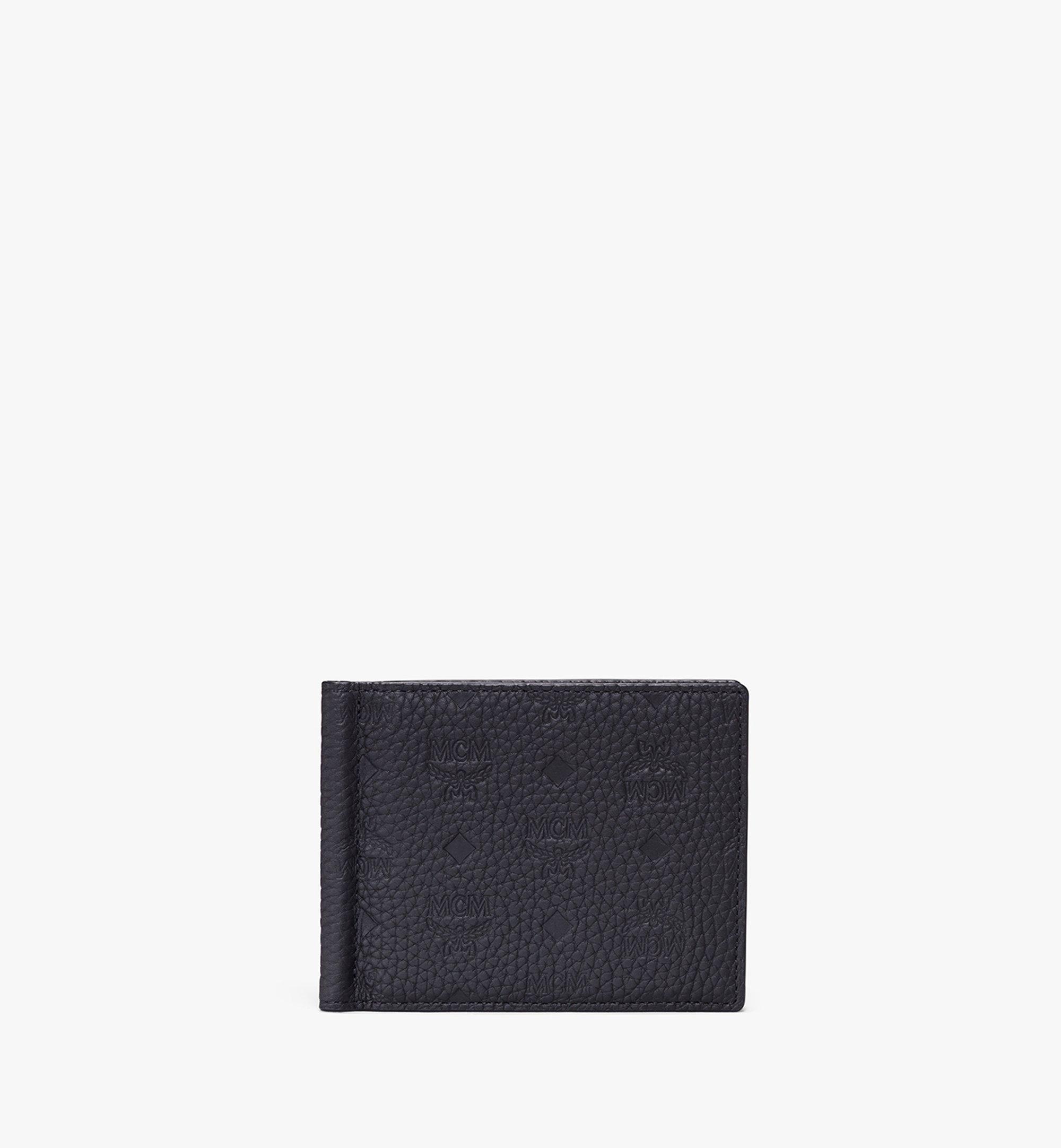 MCM Brieftasche aus Tivitat-Leder mit Geldscheinklammer Pink MXC9ABT24BK001 Alternate View 1