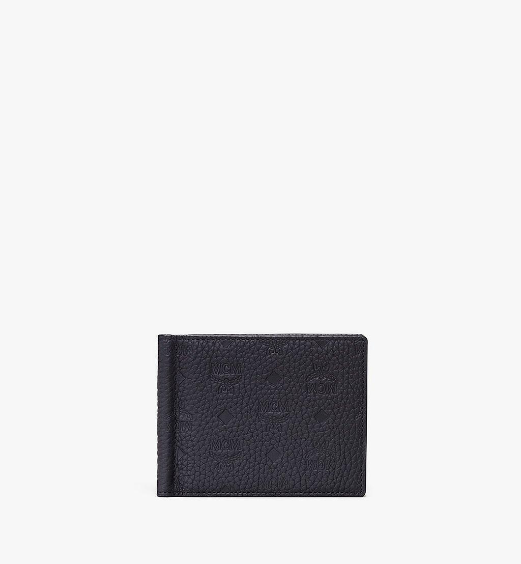 MCM Tivitat Money Clip Wallet in Monogram Leather Black MXC9ABT24BK001 Alternate View 1