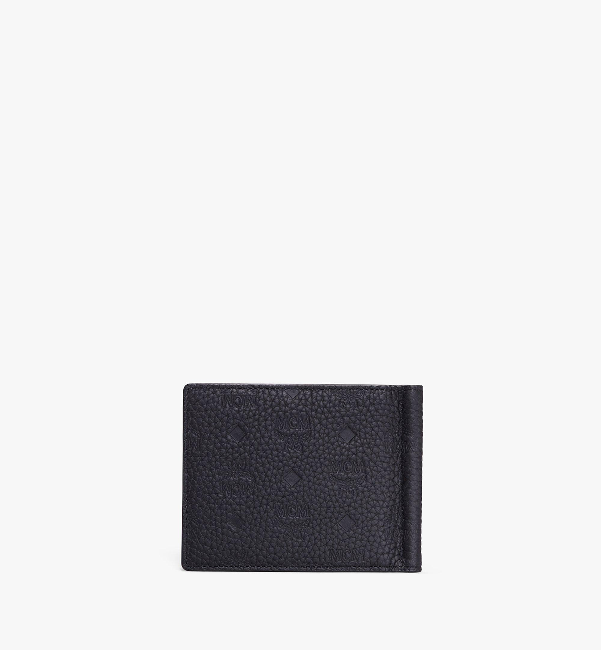 One Size Tivitat Money Clip Wallet In Monogram Leather Black Mcm Be