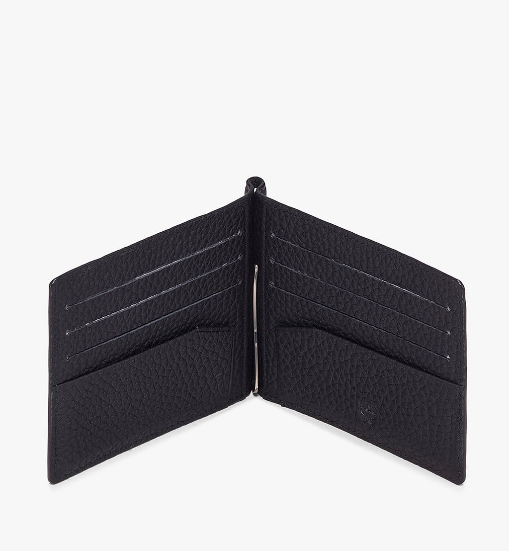 MCM Tivitat Money Clip Wallet in Monogram Leather Black MXC9ABT24BK001 Alternate View 2