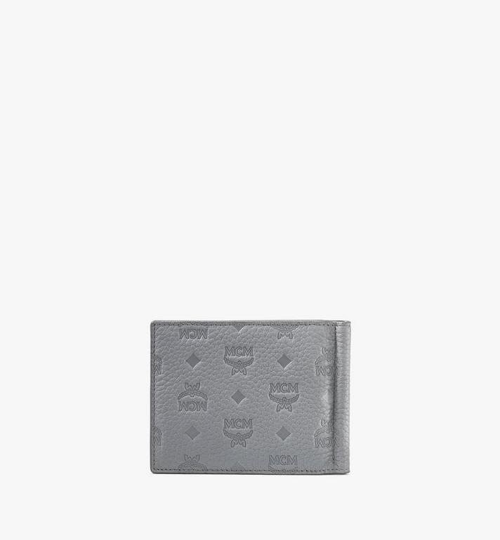 MCM Tivitat Money Clip Wallet in Monogram Leather Grey MXC9ABT24FK001 Alternate View 2