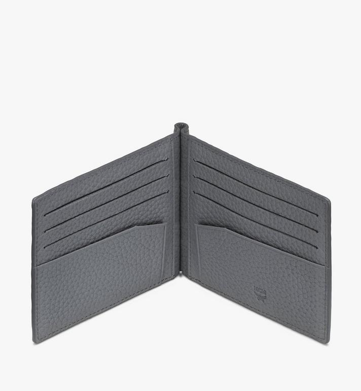 MCM Tivitat Money Clip Wallet in Monogram Leather Grey MXC9ABT24FK001 Alternate View 3
