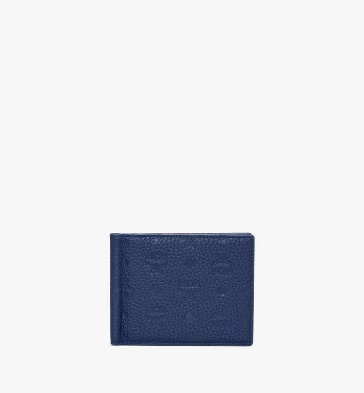 MCM Tivitat Money Clip Wallet in Monogram Leather Alternate View