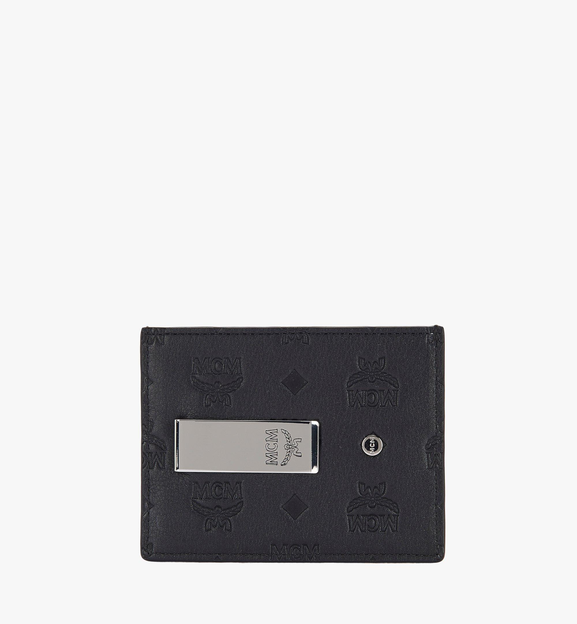 MCM Money Clip Card Case in Monogram Leather Black MXC9AKL15BK001 Alternate View 1
