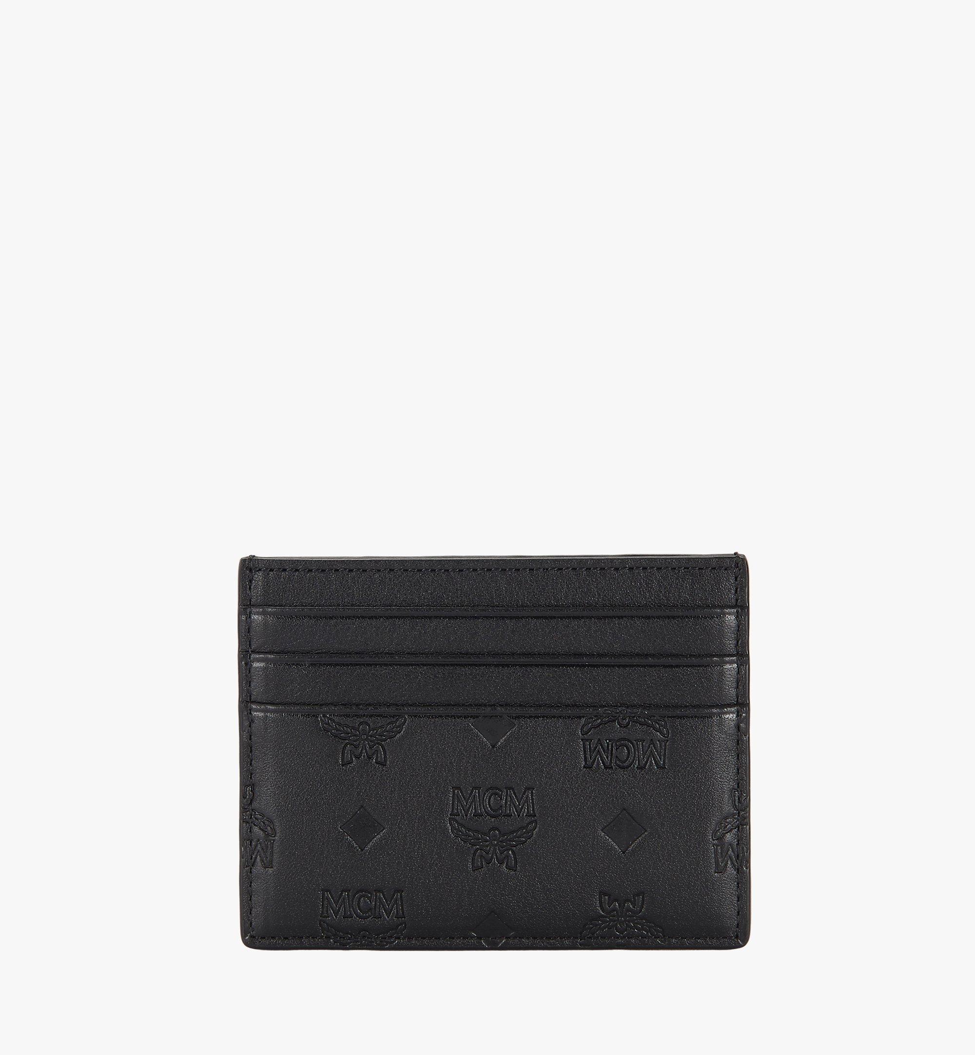 MCM Money Clip Card Case in Monogram Leather Black MXC9AKL15BK001 Alternate View 2