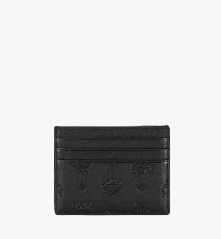 MCM Money Clip Card Case in Monogram Leather Alternate View 2
