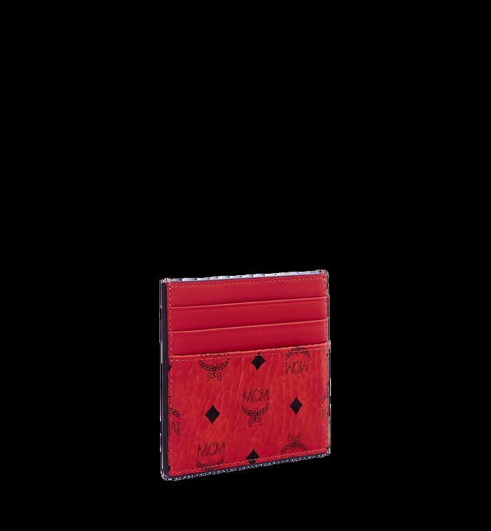 MCM Money Clip Card Case in Visetos Original Red MXC9AVI65RU001 Alternate View 2