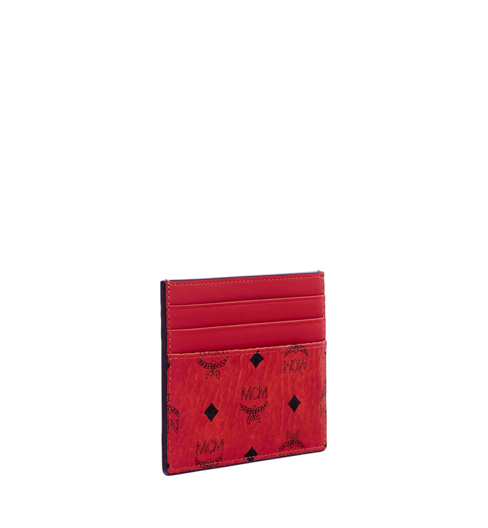 MCM Money Clip Card Case in Visetos Original  Red MXC9AVI65RU001 Alternate View 2