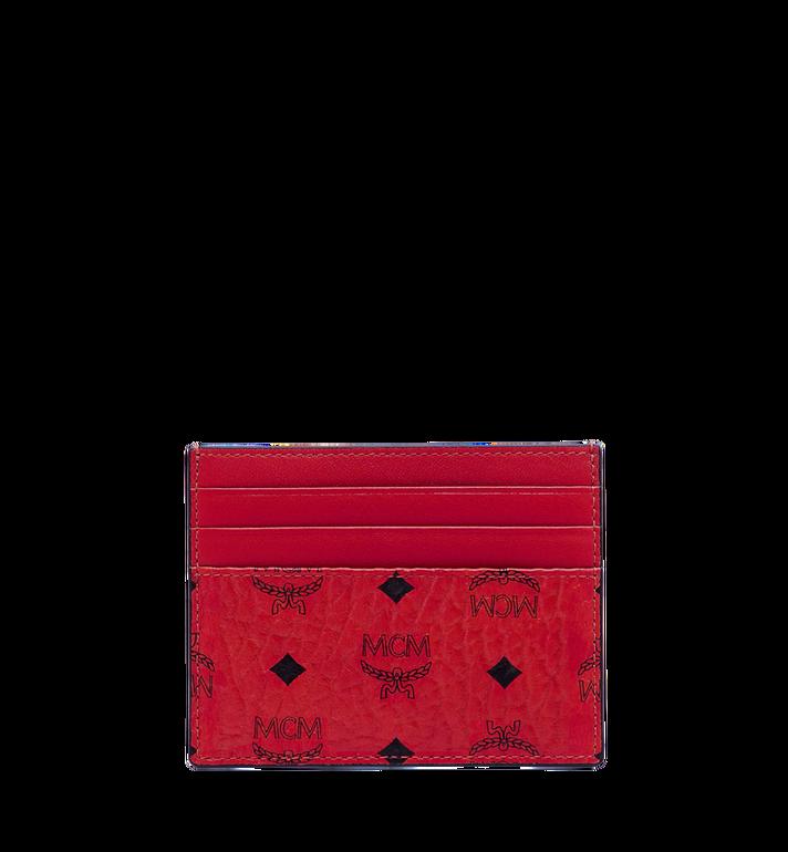 MCM Money Clip Card Case in Visetos Original Red MXC9AVI65RU001 Alternate View 3