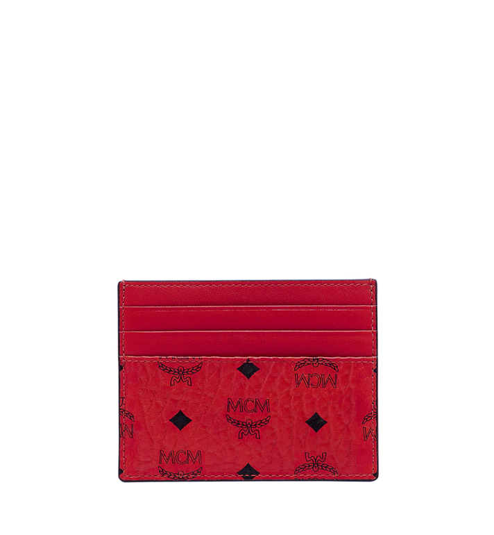 MCM Money Clip Card Case in Visetos Original  Red MXC9AVI65RU001 Alternate View 3