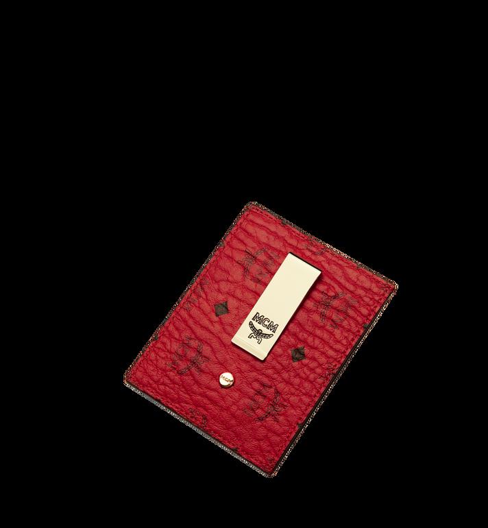 MCM Money Clip Card Case in Visetos Original Red MXC9AVI65RU001 Alternate View 4