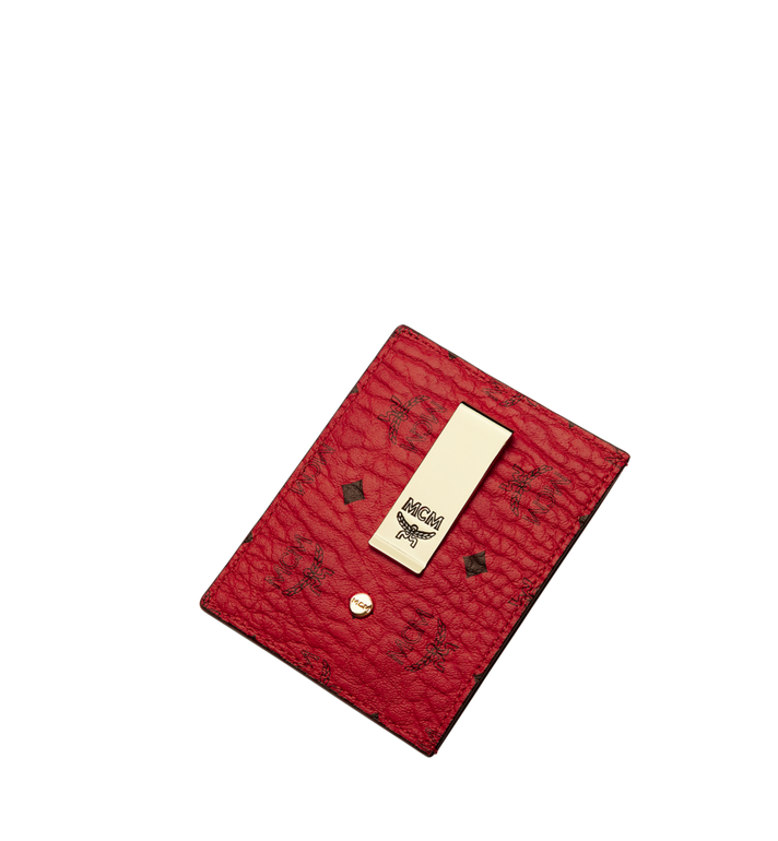 MCM Money Clip Card Case in Visetos Original  Red MXC9AVI65RU001 Alternate View 4