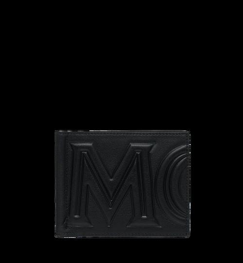 MCM 인젝션 로고 머니클립 반지갑