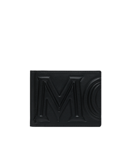 Money Clip Wallet in MCM Injection Logo