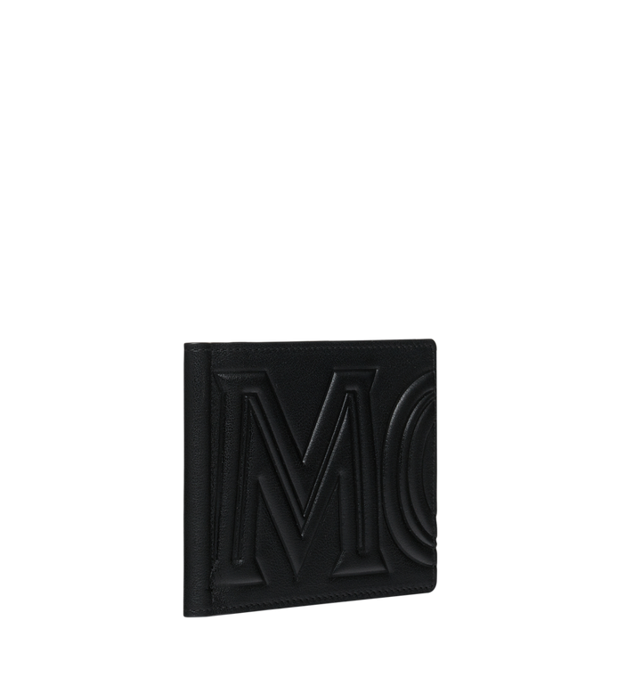 MCM Money Clip Wallet in MCM Injection Logo Black MXC9SCL03BK001 Alternate View 2