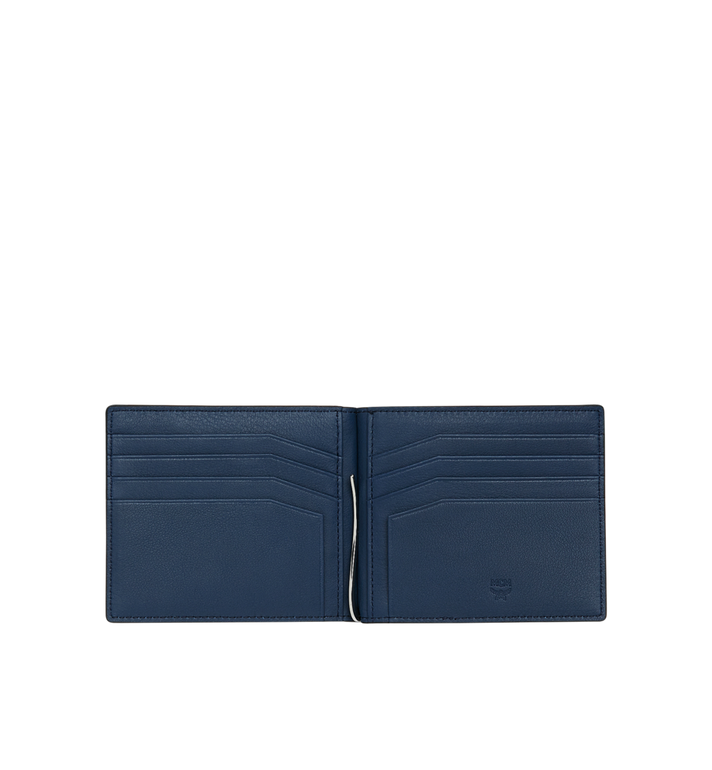 MCM Money Clip Wallet in MCM Injection Logo Navy MXC9SCL03VA001 Alternate View 4