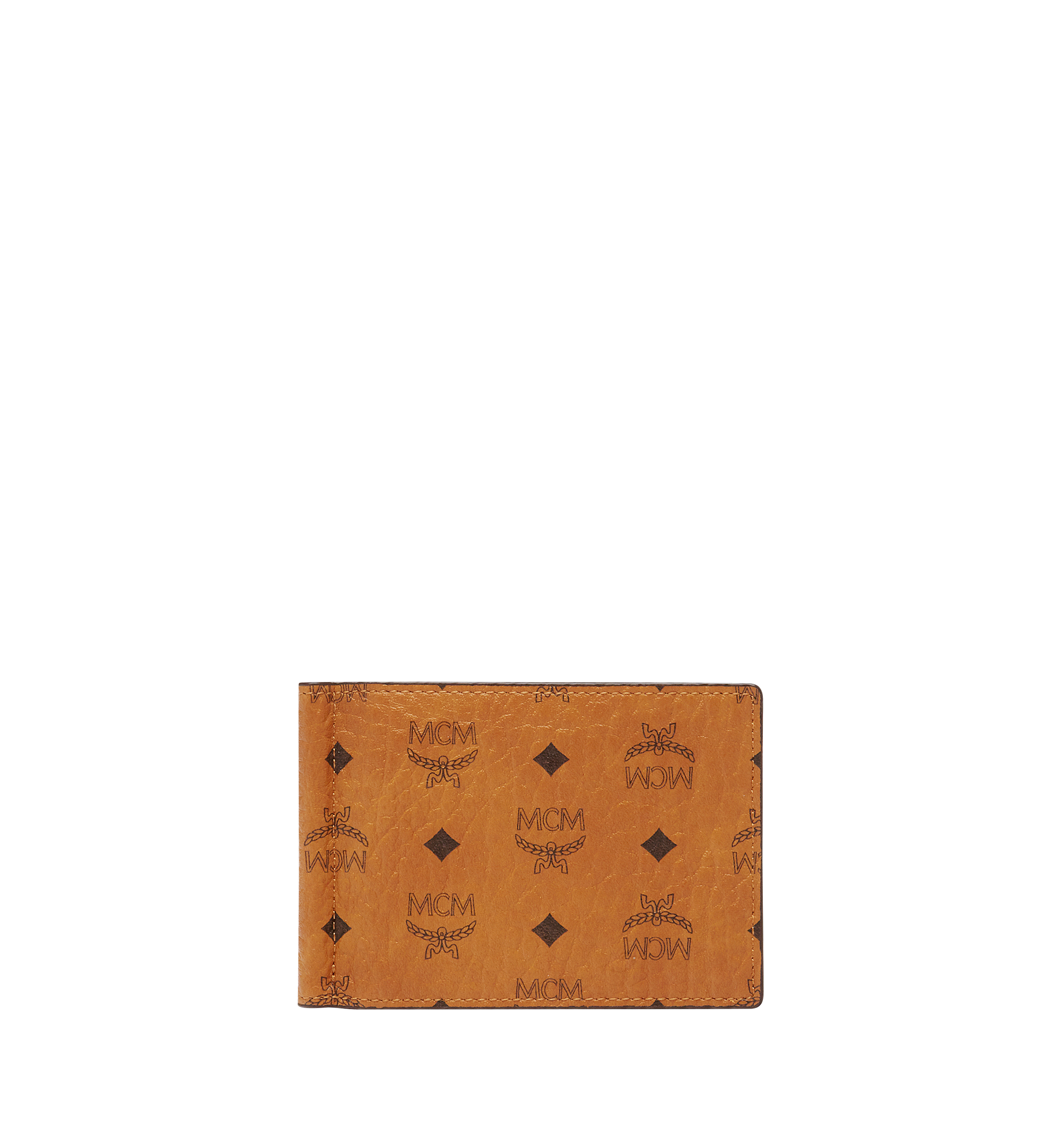 MCM Money Clip Wallet in Visetos Original Cognac MXCAAVI01CO001 Alternate View 1