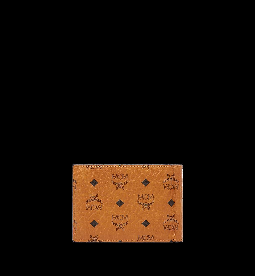 MCM Money Clip Wallet in Visetos Original Cognac MXCAAVI01CO001 Alternate View 2